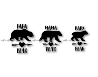 Grizzly Family svg #14, Download drawings