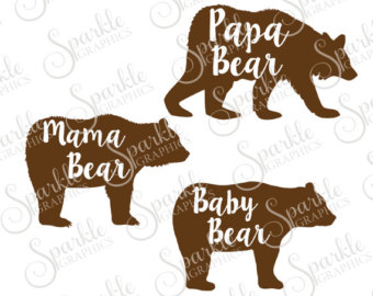 Grizzly Family svg #6, Download drawings