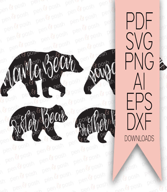 Grizzly Family svg #5, Download drawings