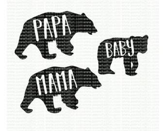 Grizzly Family svg #17, Download drawings