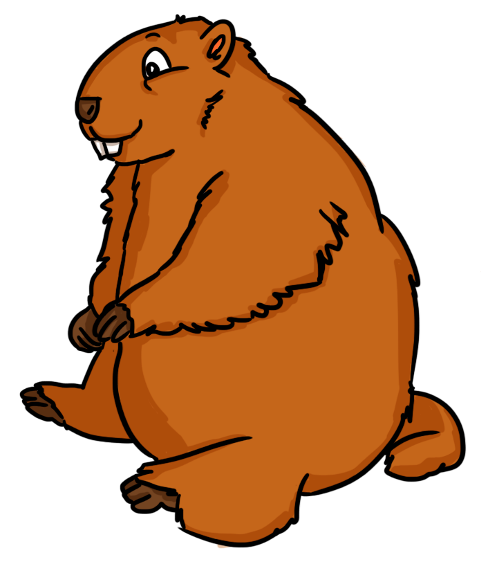 Groundhog clipart #1, Download drawings