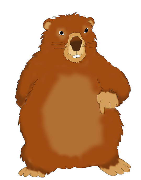 Groundhog clipart #6, Download drawings