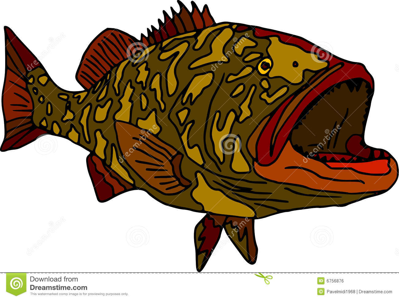 Grouper clipart #11, Download drawings