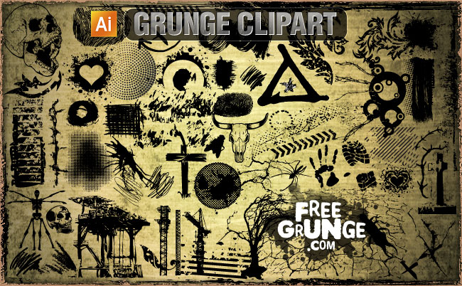Grunge clipart #2, Download drawings