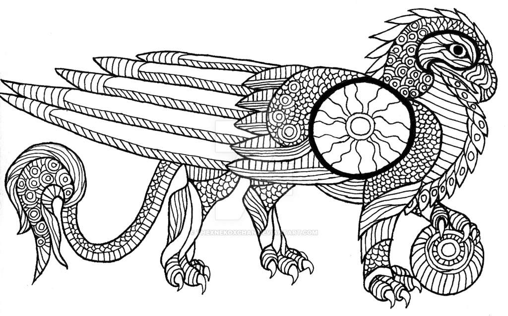 Gryphon coloring #7, Download drawings