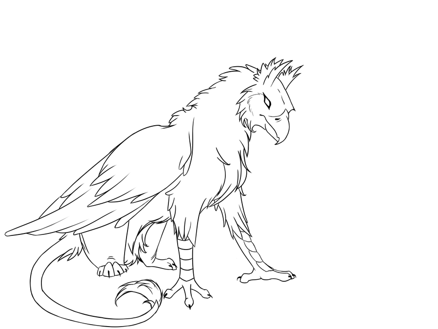 Gryphon coloring #8, Download drawings