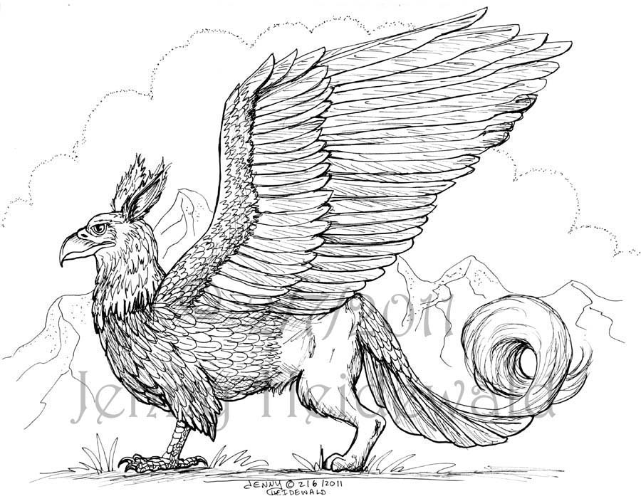 Gryphon coloring #5, Download drawings