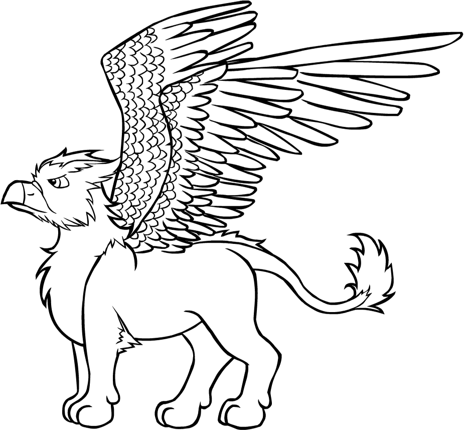 Gryphon coloring #1, Download drawings