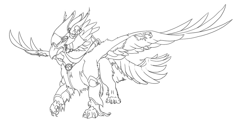 Gryphon coloring #4, Download drawings