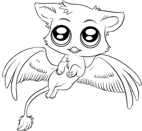 Gryphon coloring #6, Download drawings