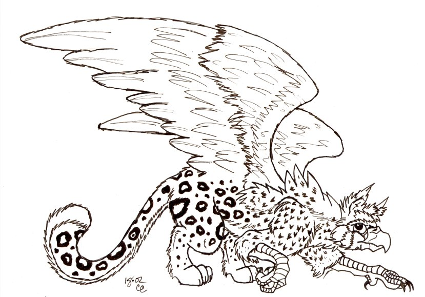 Gryphon coloring #12, Download drawings