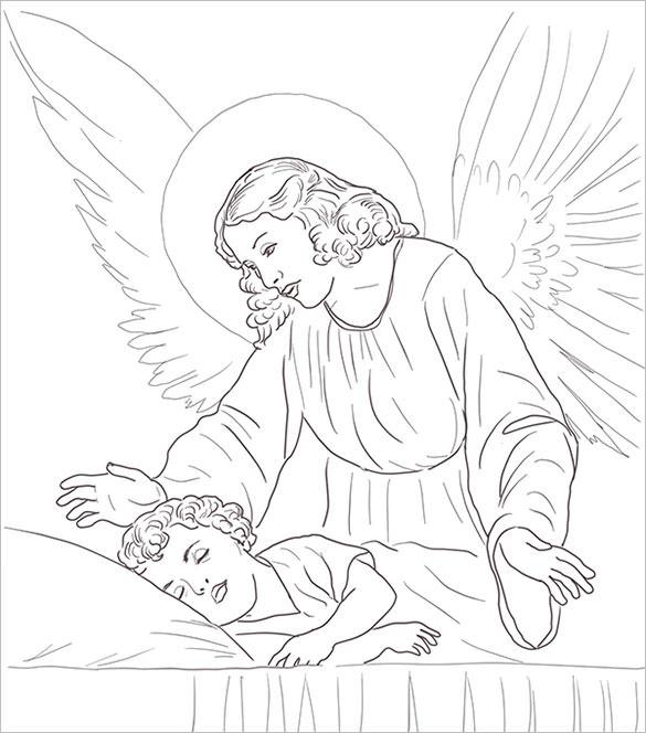 28 Angel Drawings Free Drawings Download: Guardian Angel Coloring, Download Guardian Angel Coloring