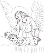 Guardian Angel coloring #14, Download drawings