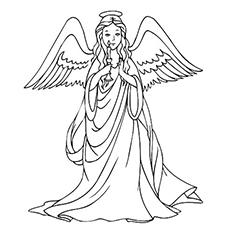 Guardian Angel coloring #1, Download drawings