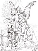 Guardian Angel coloring #10, Download drawings