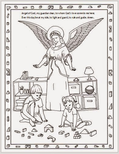 Guardian Angel coloring #19, Download drawings