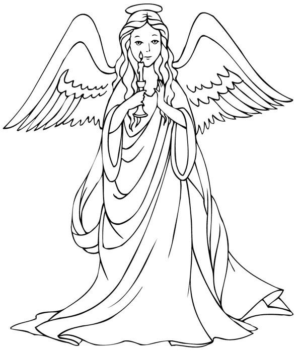 Guardian Angel coloring #20, Download drawings