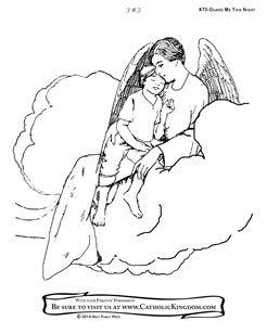 Guardian Angel coloring #13, Download drawings