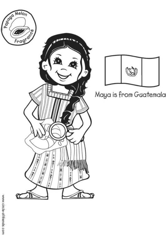 Guatemala coloring #3, Download drawings