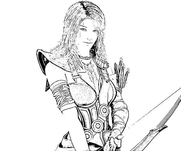 Guild Wars coloring #13, Download drawings