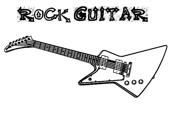 Guitar Coloring 10 Download Drawings