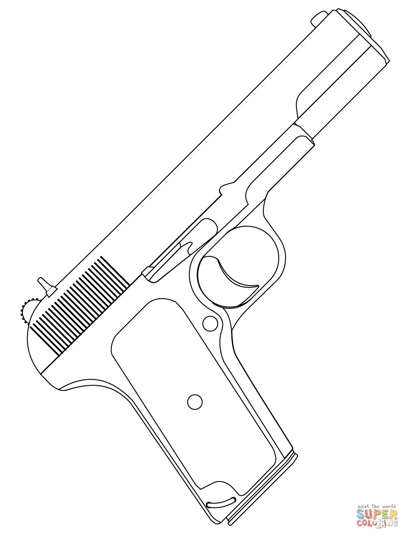 Handgun coloring #17, Download drawings