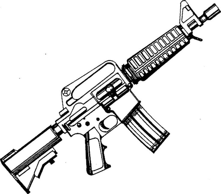 Assault Rifle coloring #19, Download drawings