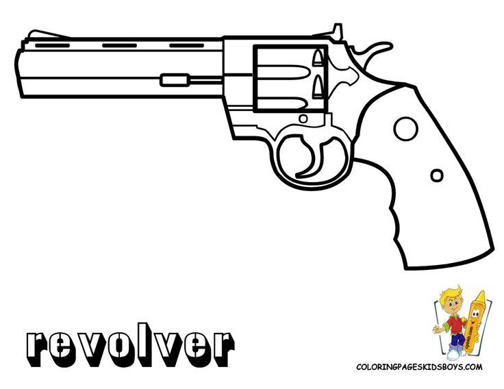 Handgun coloring #20, Download drawings