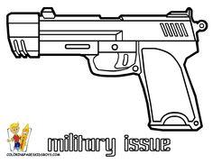 Handgun coloring #19, Download drawings