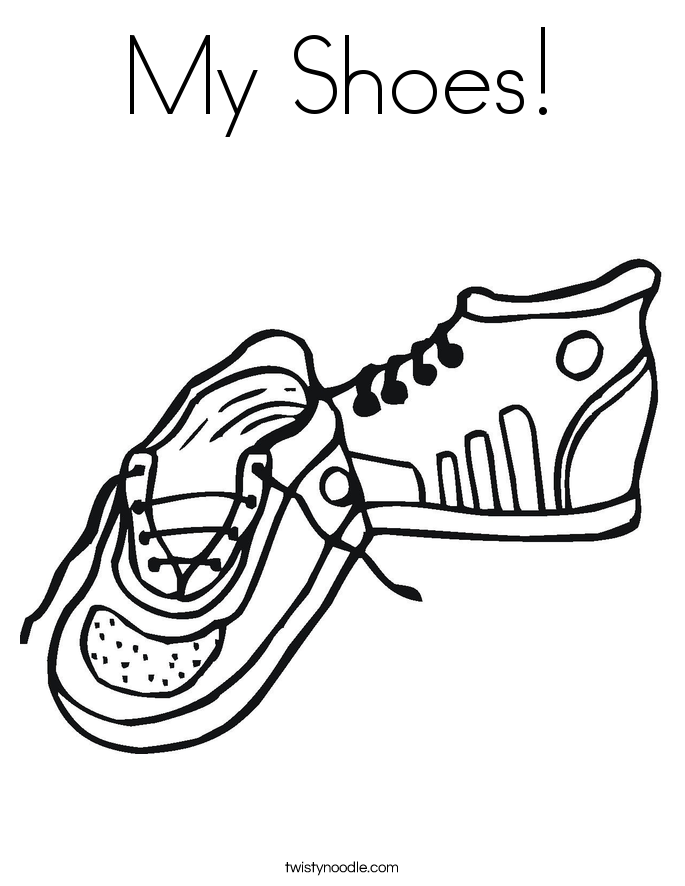 Sneakers coloring #6, Download drawings