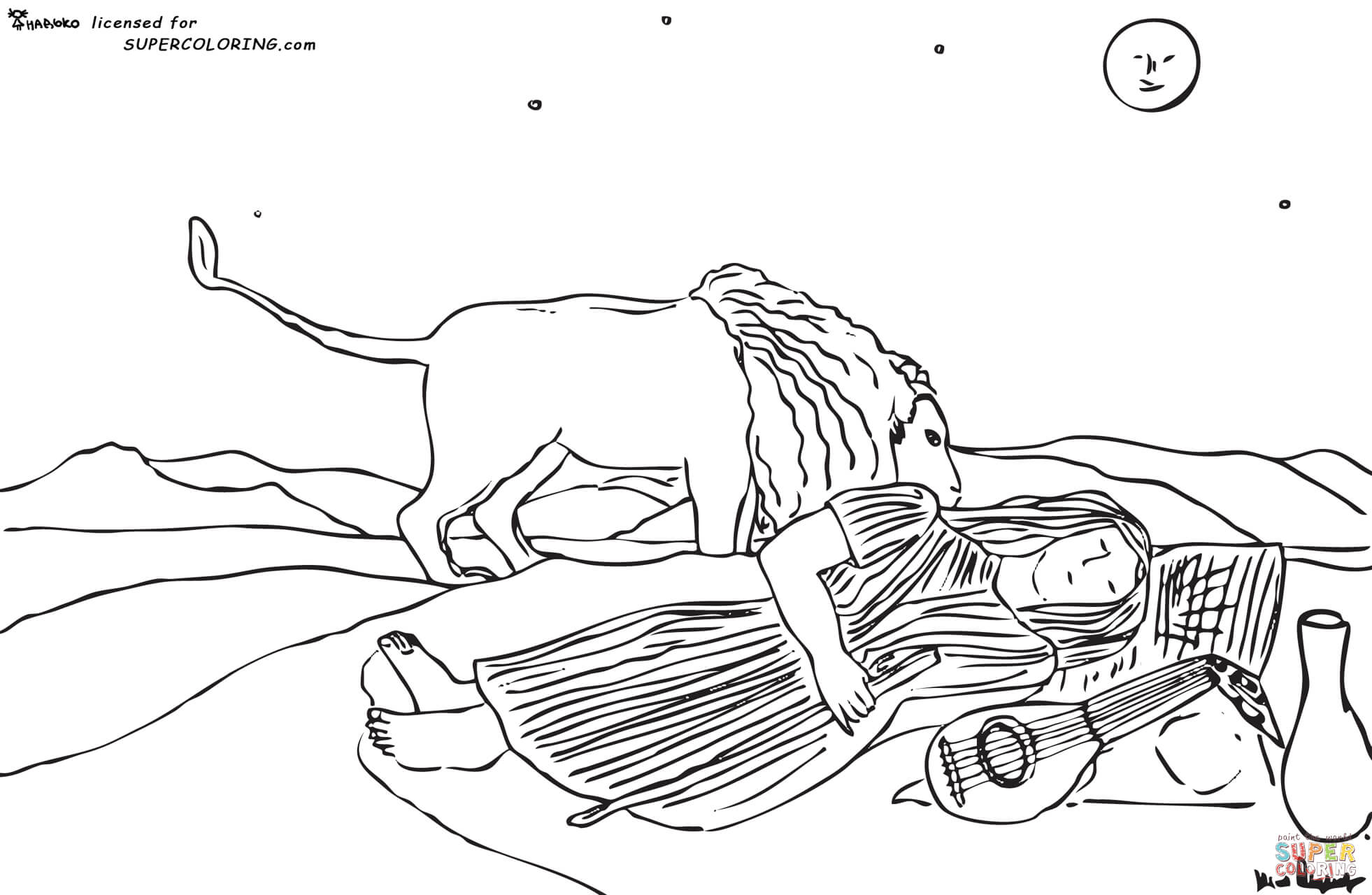 Gypsy coloring #2, Download drawings