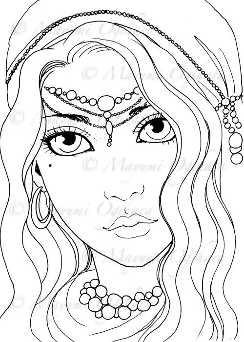 Gypsy coloring #8, Download drawings