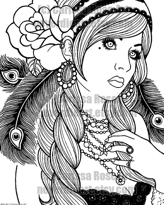 Gypsy coloring #13, Download drawings
