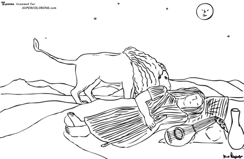 Gypsy coloring #11, Download drawings