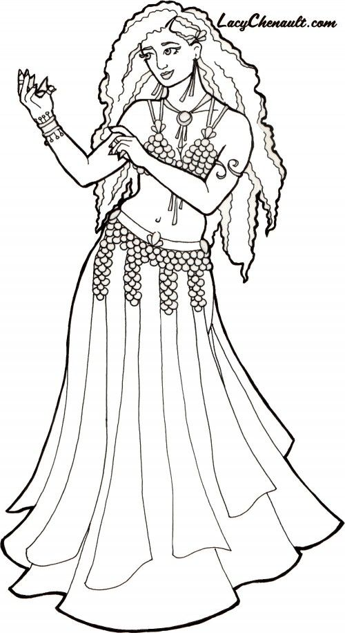 Gypsy coloring #5, Download drawings
