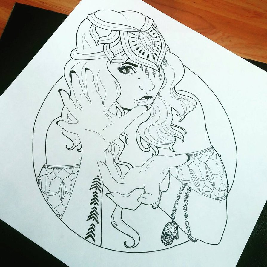 Gypsy coloring #9, Download drawings