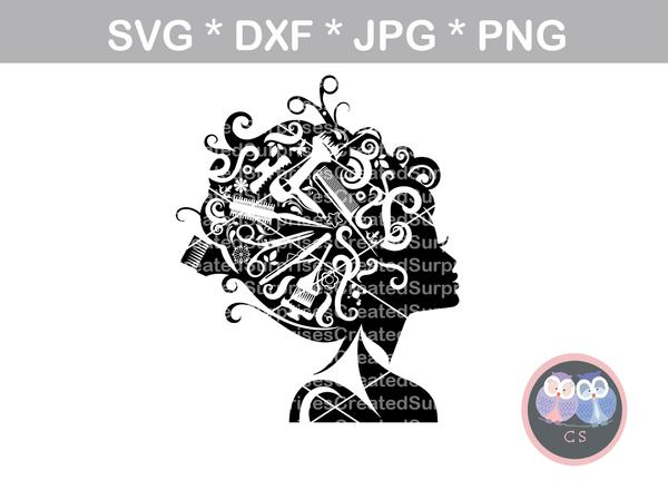 hair stylist svg #277, Download drawings