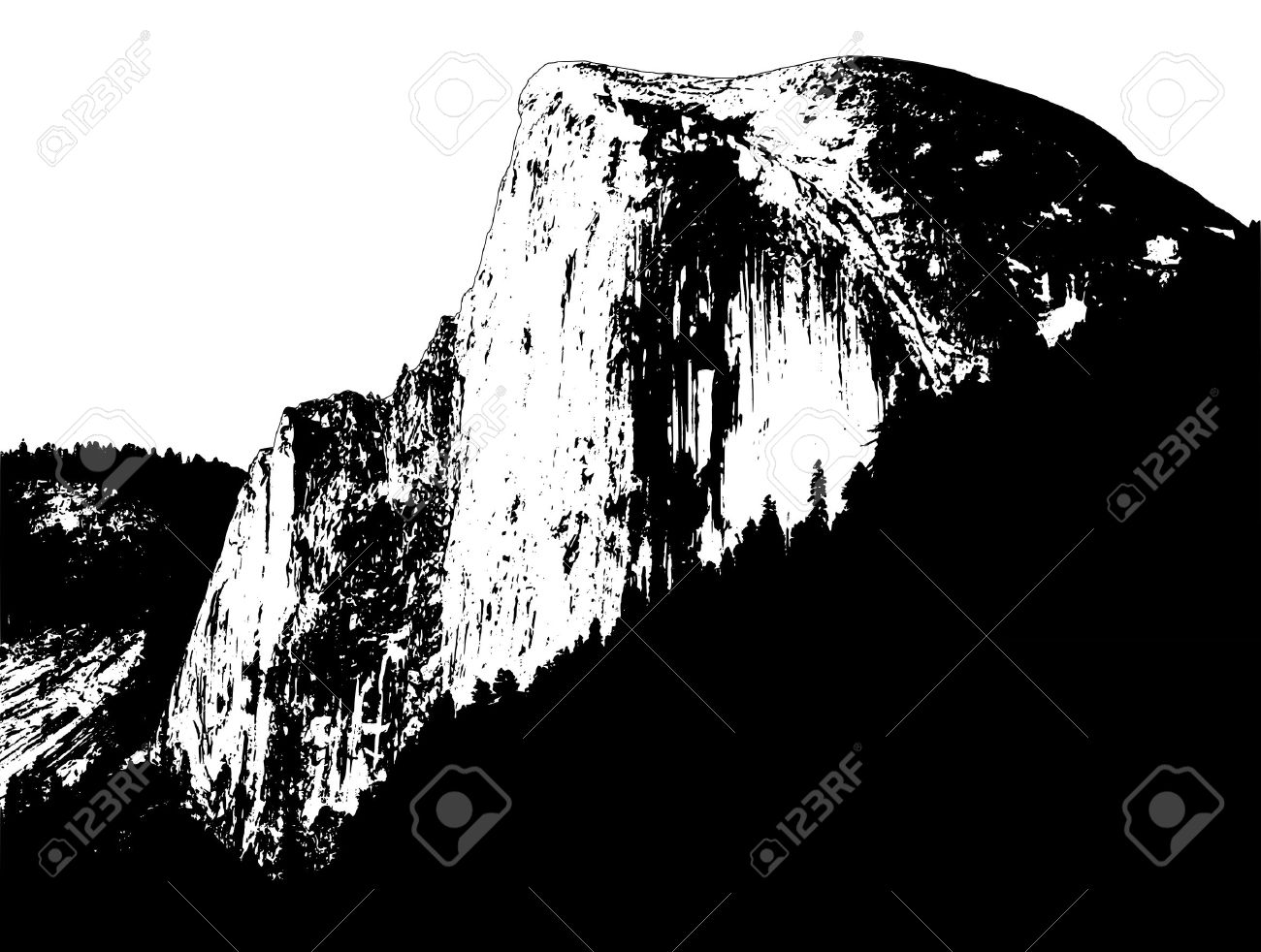 Half Dome clipart #4, Download drawings