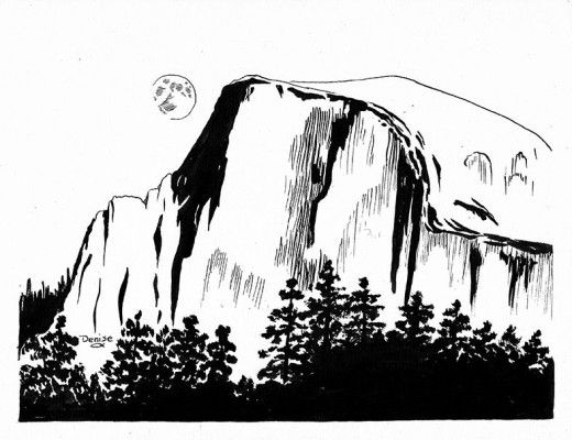 Half Dome coloring #9, Download drawings