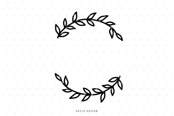half wreath svg #964, Download drawings