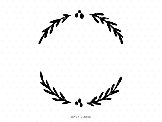 half wreath svg #965, Download drawings