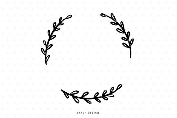 half wreath svg #968, Download drawings