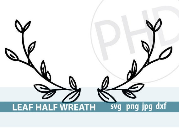 half wreath svg #962, Download drawings