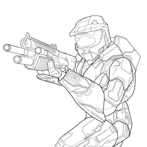 Halo Reach Mountains coloring #18, Download drawings