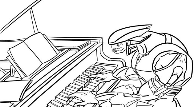 Halo Reach Mountains coloring #8, Download drawings