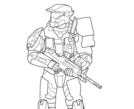 Halo Reach Mountains coloring #9, Download drawings