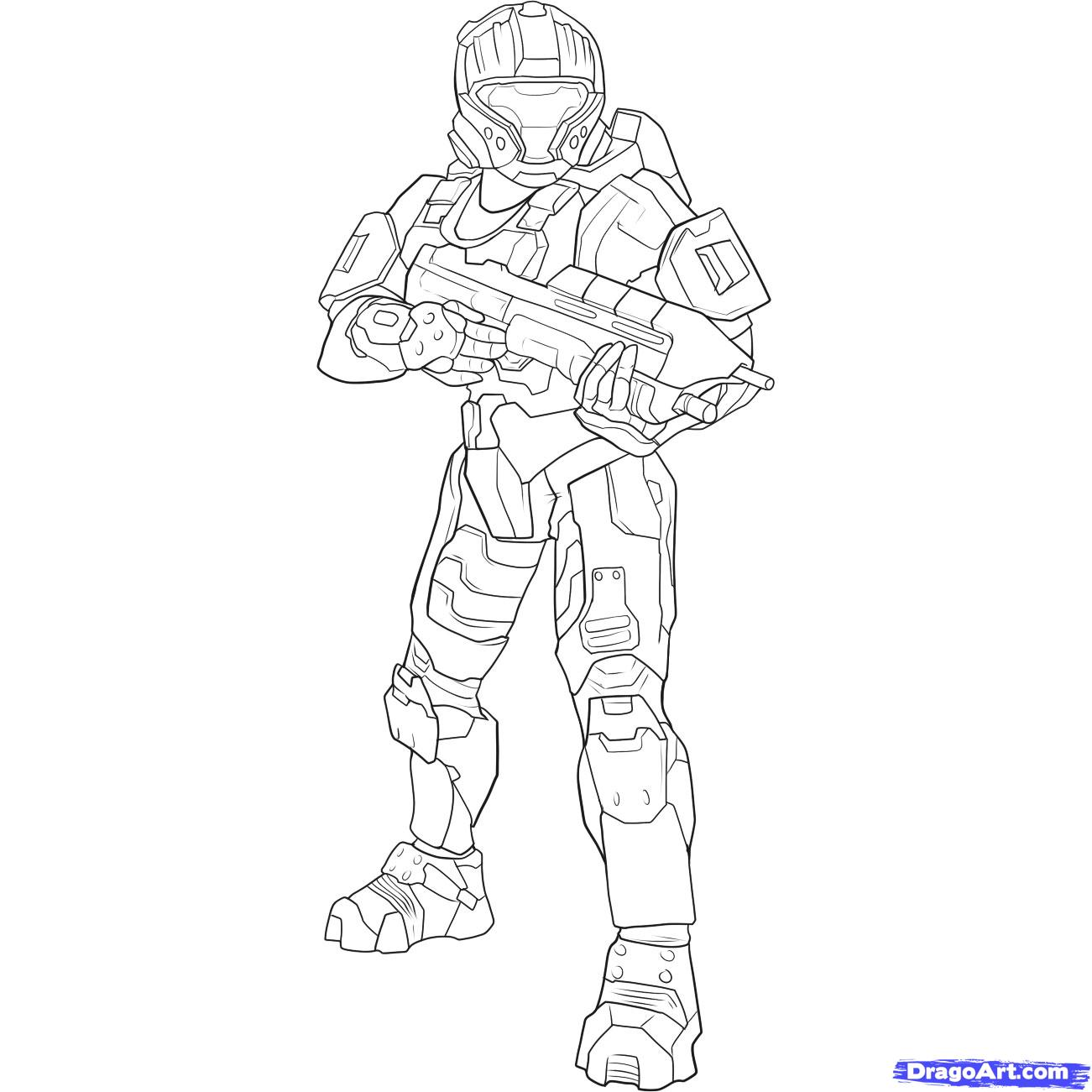 Halo Reach Mountains coloring #6, Download drawings