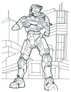 Halo Reach Mountains coloring #20, Download drawings