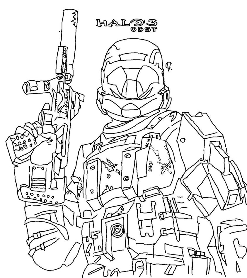 Halo Reach Mountains coloring #13, Download drawings