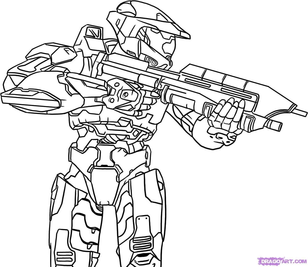 Halo Reach Mountains coloring #17, Download drawings